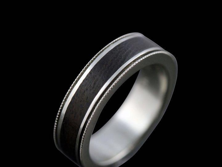 Tmx 1362784692942 WI14kwMilgrainEdgeIronwoodInlayRR12 Ann Arbor wedding jewelry