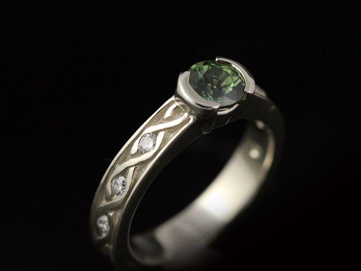 Tmx 1366228495855 14kwgreensapphirediamondermmcc 13 Ann Arbor wedding jewelry