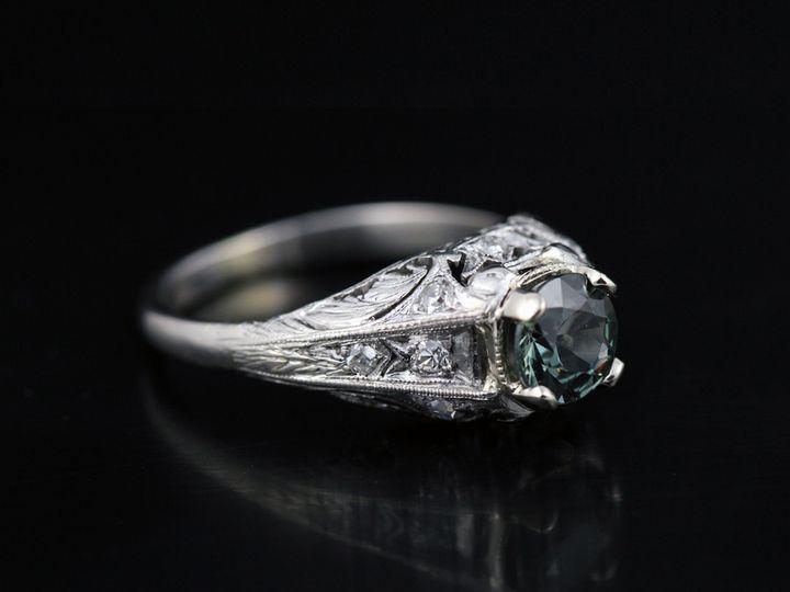 Tmx 1366228801365 Antiquegreensapphirefn 12 Ann Arbor wedding jewelry