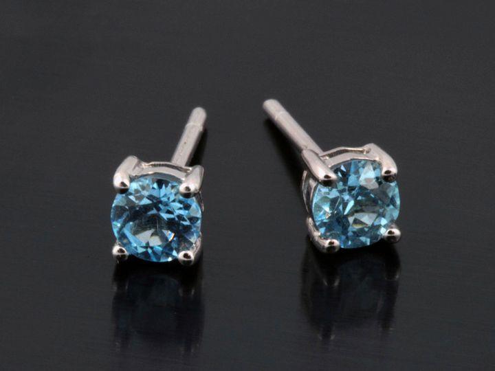 Tmx 1366228921981 14kw Bluetopazstuds Ann Arbor wedding jewelry