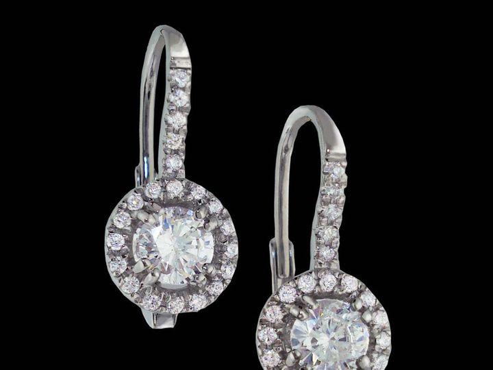 Tmx 1366228929148 14kwdiahaloearrings  Ann Arbor wedding jewelry