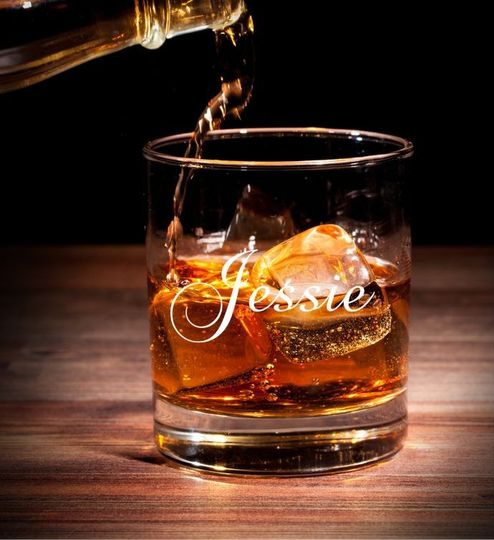 Lowball glass Personalized Laser Etched Groomsman Gift  These custom lowball/whiskey glasses can be...