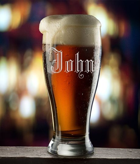 Personalized Beer Glass Laser Etched Groomsman Gift  These glasses will be custom made from either...