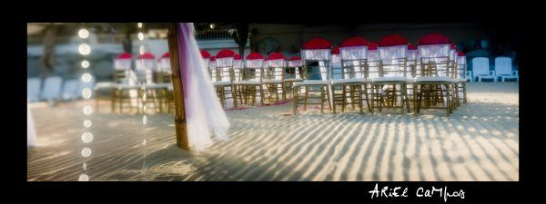 Ceremony chairs and hoppa at the Nikki beach, Cabo San Lucas, BCS.
