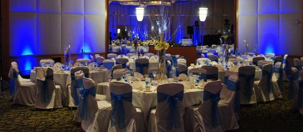 Blue ribbons and lighting
