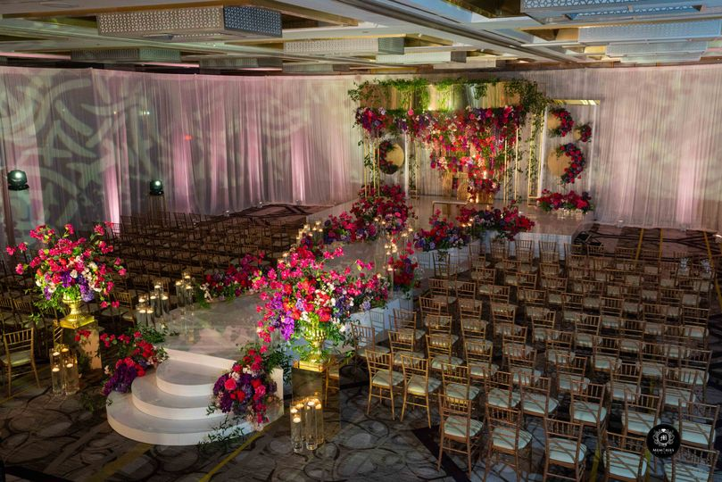 styled photo shoot 23 ceremony setup with mandap with low light side view 51 475765 161195505599990