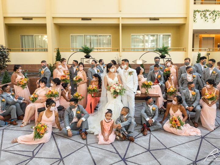 Tmx Picture Bridal Party In Waters Edge With Masks 51 475765 159897150592598 Princeton, NJ wedding venue