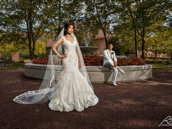 Tmx Picture Bride And Groom In Centrum By Water Fountain 2 51 475765 159897150770166 Princeton, NJ wedding venue