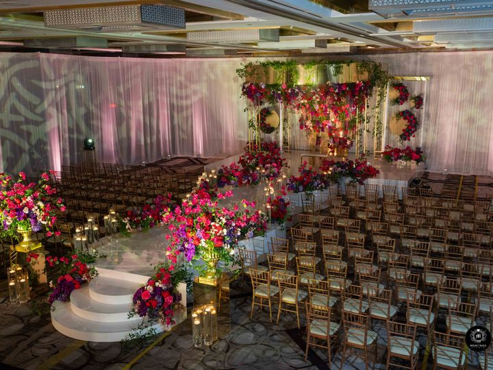 Tmx Styled Photo Shoot 23 Ceremony Setup With Mandap With Low Light Side View 51 475765 161195505599990 Princeton, NJ wedding venue