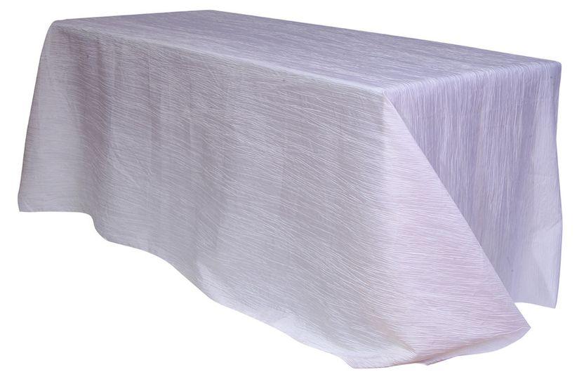 x 156 inch rectangular crinkle taffeta tableclo