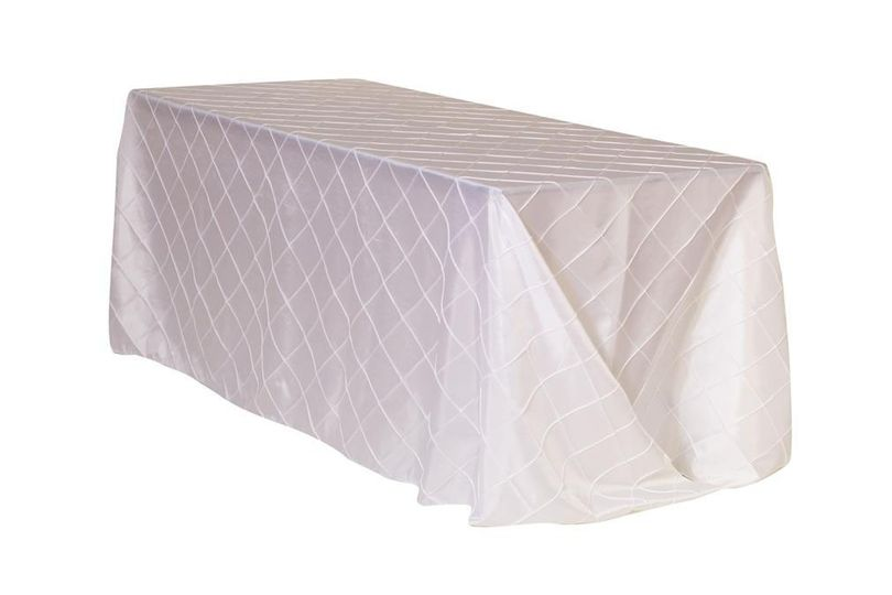 x 156 inch rectangular pintuck taffeta tableclo