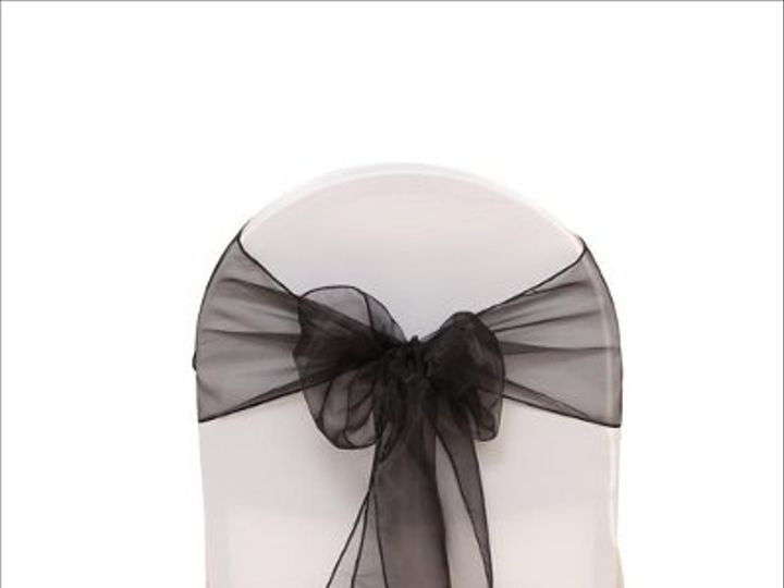 Tmx 1323306420190 BlackOrganza8x108Sash Sun Valley wedding rental