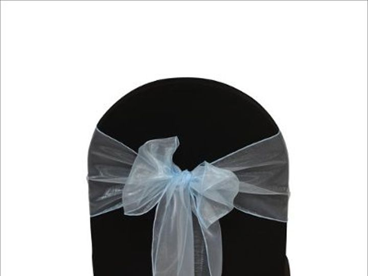 Tmx 1323306431391 LightBlueOrganza8x108Sash Sun Valley wedding rental