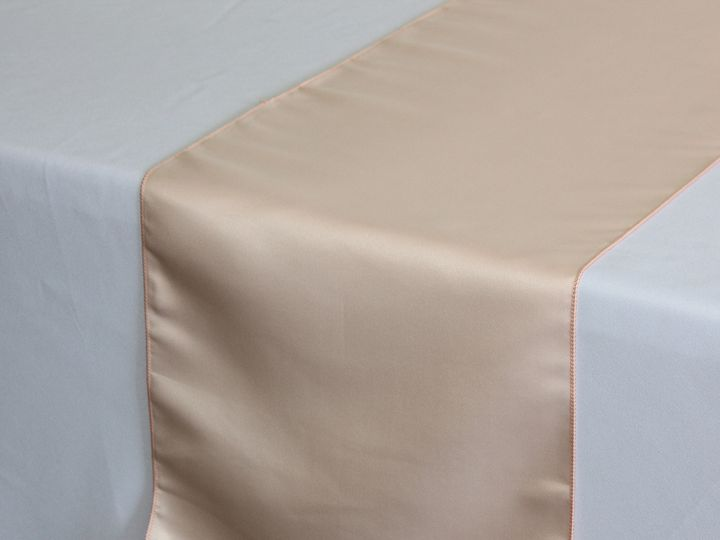 Tmx 1405018656687 Blush Satin Lamour Table Runner Sun Valley wedding rental