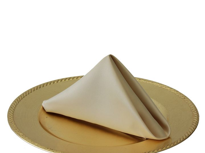 Tmx 1405107374641 20 Inch Champagne Lamour Satin Napkins For Wedding Sun Valley wedding rental