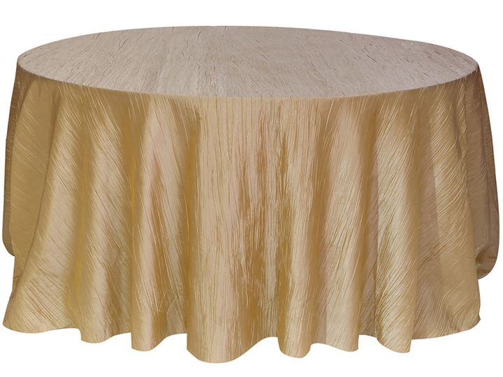 Tmx 1405107618597 120 Inch Champagne Round Tablecloths Crinkle Taffe Sun Valley wedding rental