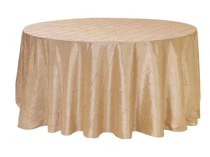 Tmx 1405107625413 120 Inch Champagne Round Tablecloths Pintuck Sun Valley wedding rental