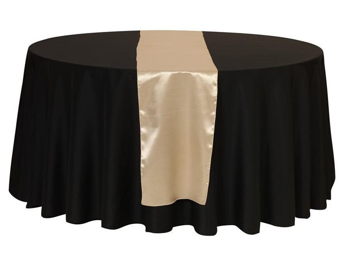 Tmx 1405107799502 Champagne Satin Table Runners For Weddings Sun Valley wedding rental