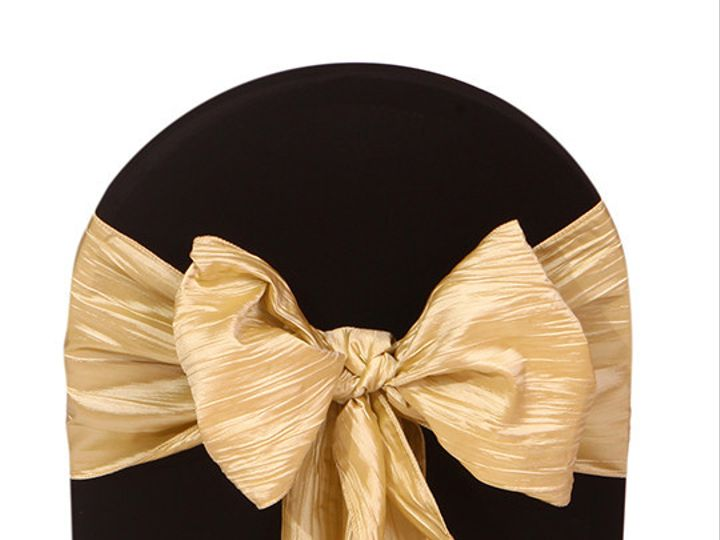 Tmx 1405108168241 Champagne Chair Sashes Crinkle Taffeta Sun Valley wedding rental