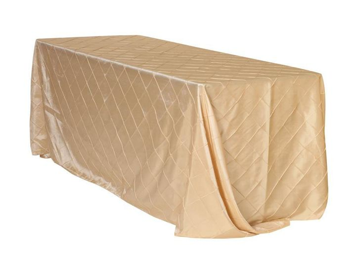 Tmx 1405109984329 90 X 132 Inch Champagne Tablecloths Pintuck Sun Valley wedding rental