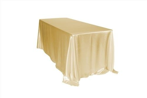 Tmx 1405109987510 90 X 132 Inch Champagne Tablecloths Satin Sun Valley wedding rental