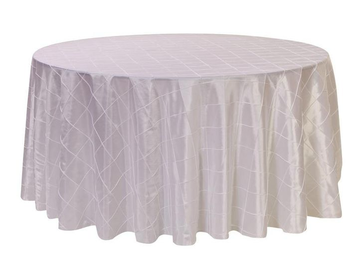 Tmx 1405110327255 120 Inch Round Pintuck Taffeta Tablecloth White Sun Valley wedding rental