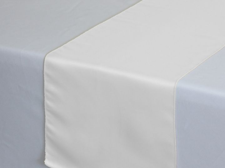 Tmx 1405110828376 White Lamour Satin Table Runners Sun Valley wedding rental