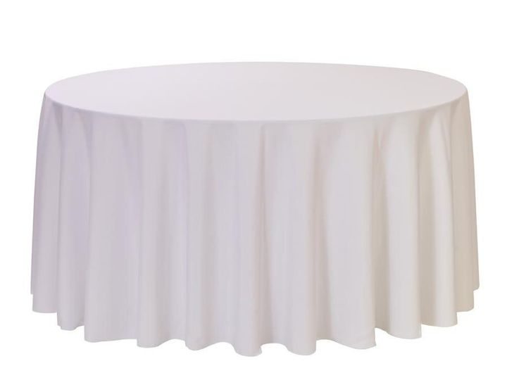 Tmx 1405110952098 120 Inch Polyester Round Tablecloths White Sun Valley wedding rental