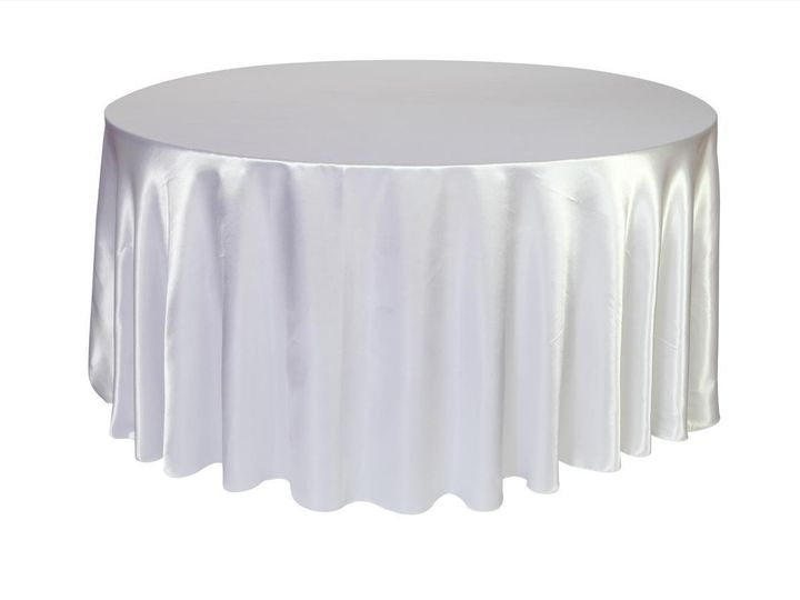 Tmx 1405110983188 120 Inch Satin Round Tablecloths White Sun Valley wedding rental