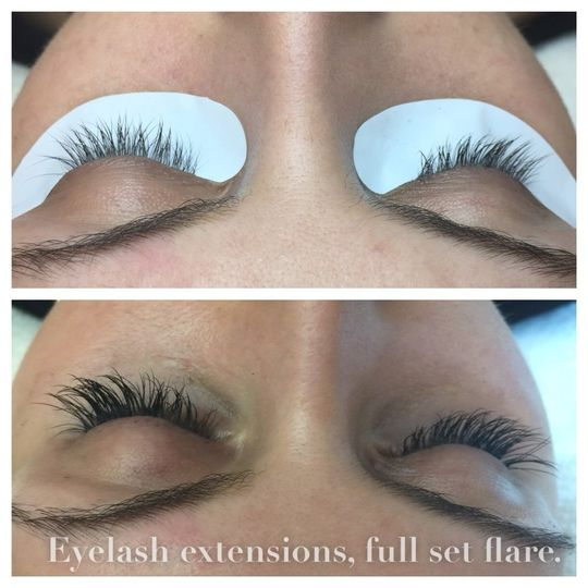 Applying lashes
