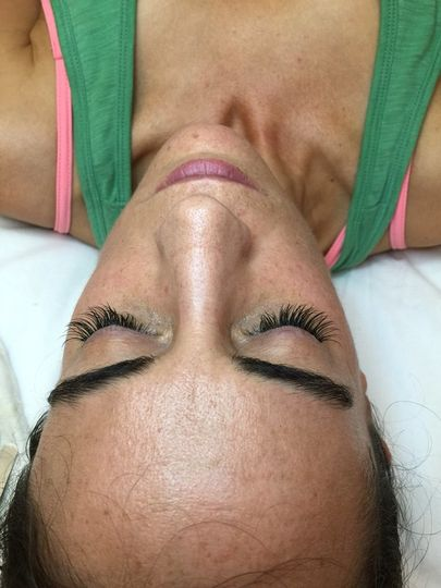 Brow work and false lashes