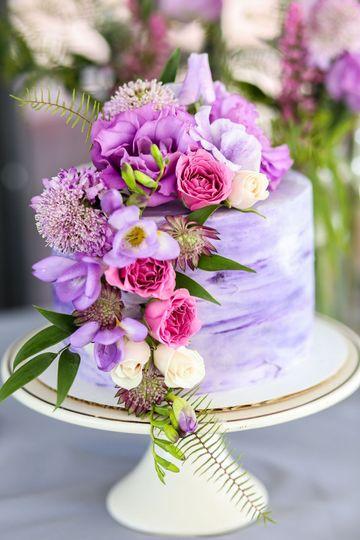 Purple Marble Buttercream