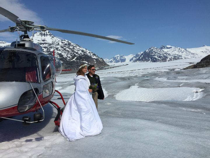 A Temsco Helicopter flew us to this very private location on Meade Glacier.