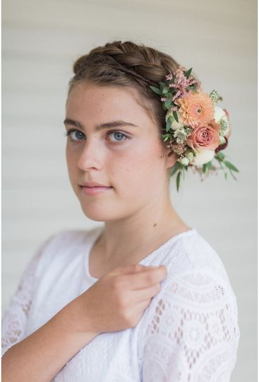 Partial boho flower crown