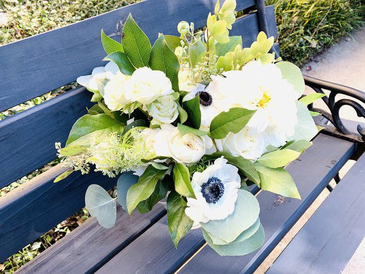 Anemone &eucalyptus bouquet