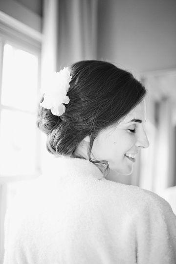 Bridal updo details