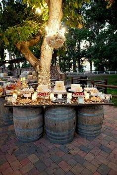 Rustic wedding caterer