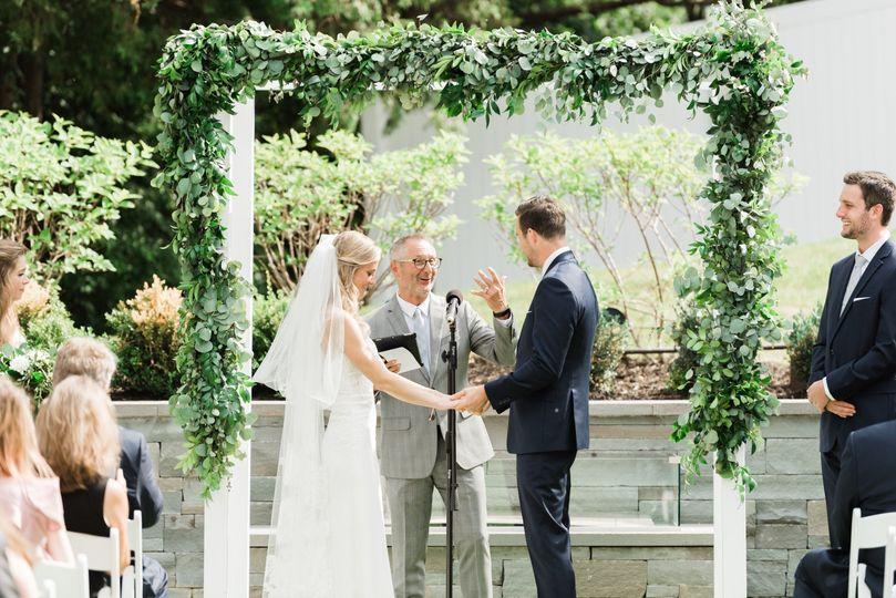 Greenery garland wedding arbor