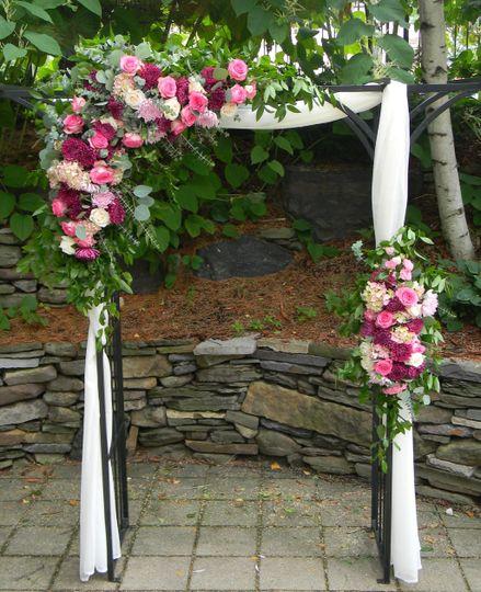 Summer wedding arbor