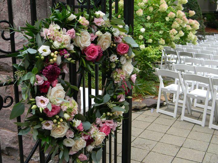 Wedding heart wreath