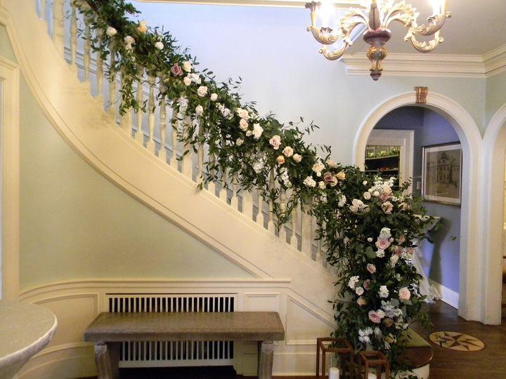 Staircase wedding arrangement