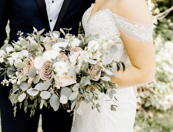 Mauve rose wedding bouquet