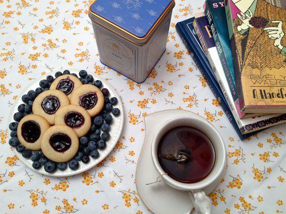 Blackberry Lavender thumbprint cookies