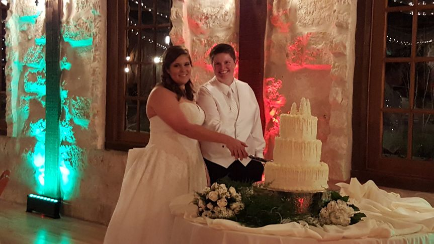 Slicing of wedding cake LGBT