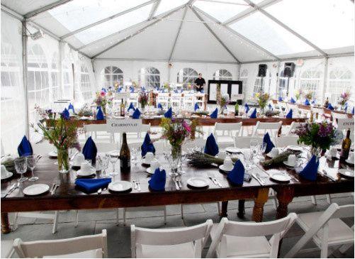 Reception venue setup