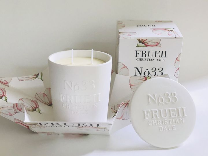 Candles with gift wrapping