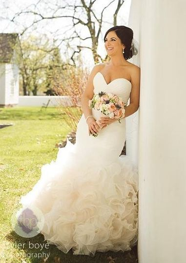 Frilly wedding dress