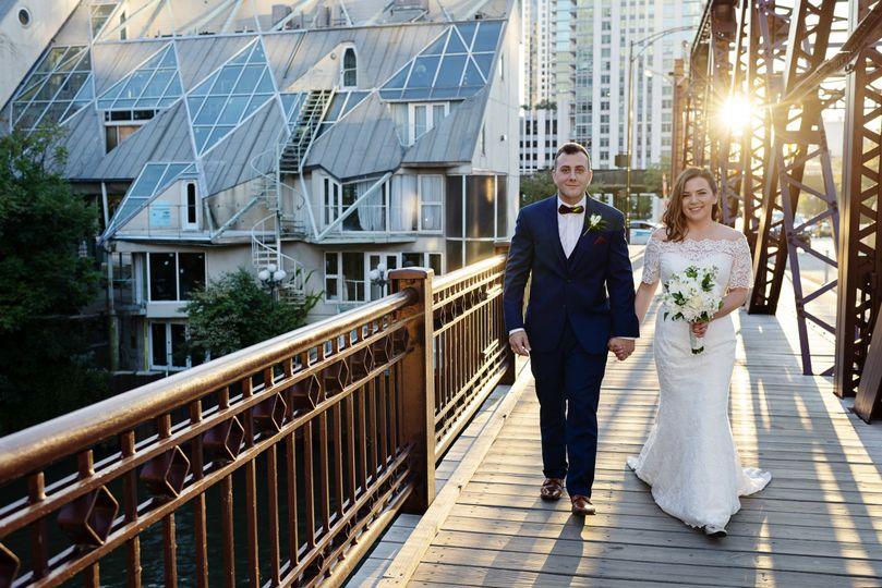 Sunset wedding in chicago
