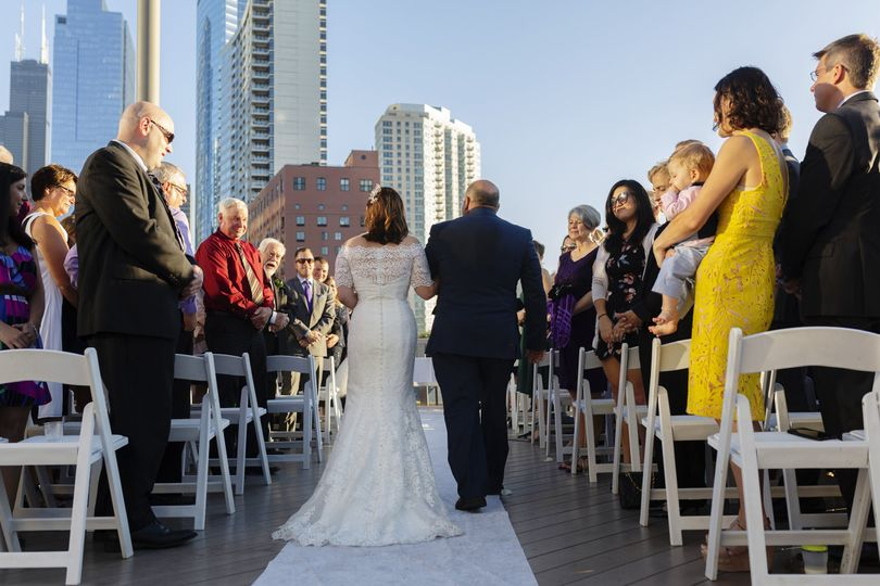 The walk up the aisle