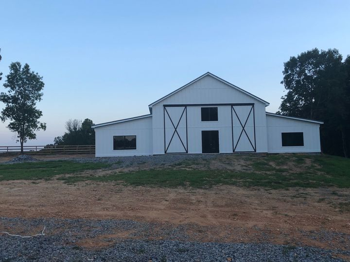 Current front shot of barn